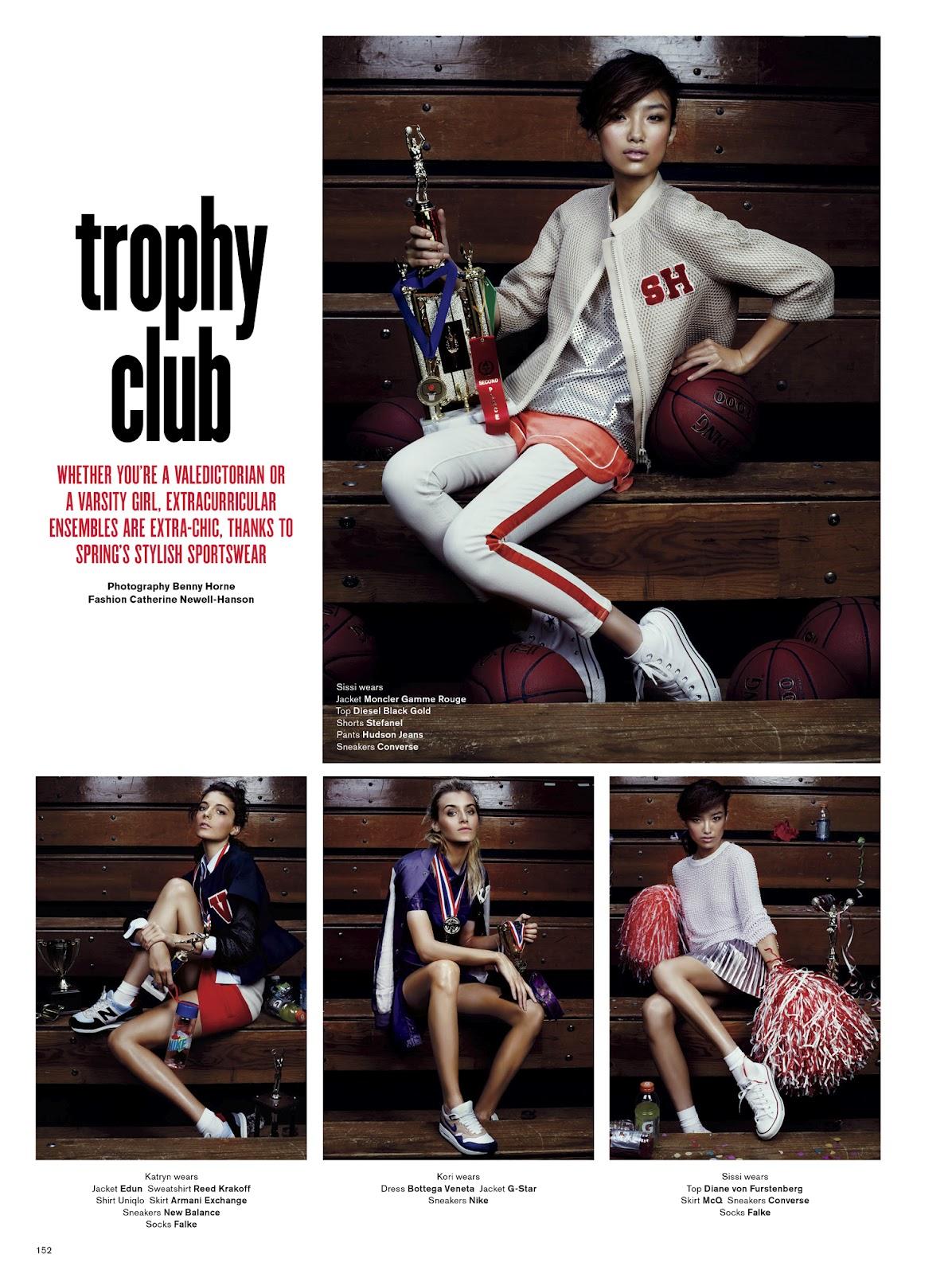 Katryn Kruger & Kori Richardson in V Magazine #76 Spring 2012 by Benny Horne