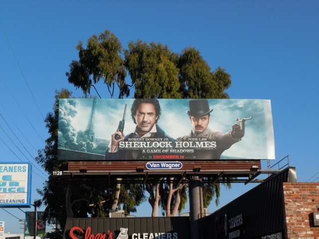 Sherlock Holmes A Game of Shadows movie billboard