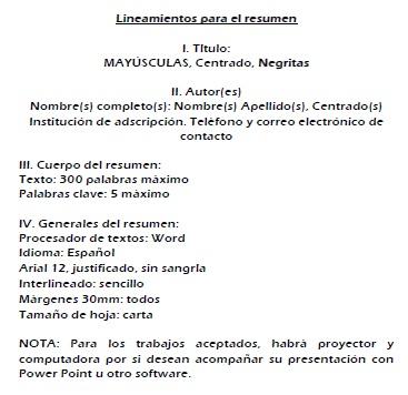 LINEAMIENTOS PARA EL RESUMEN: