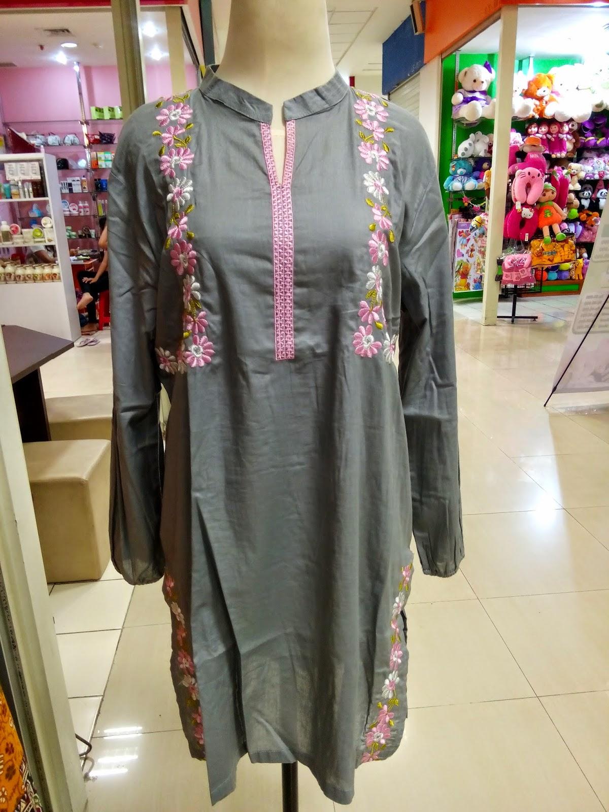 Model Baju Atasan Wanita Gemuk Muslim Terbaru 2016