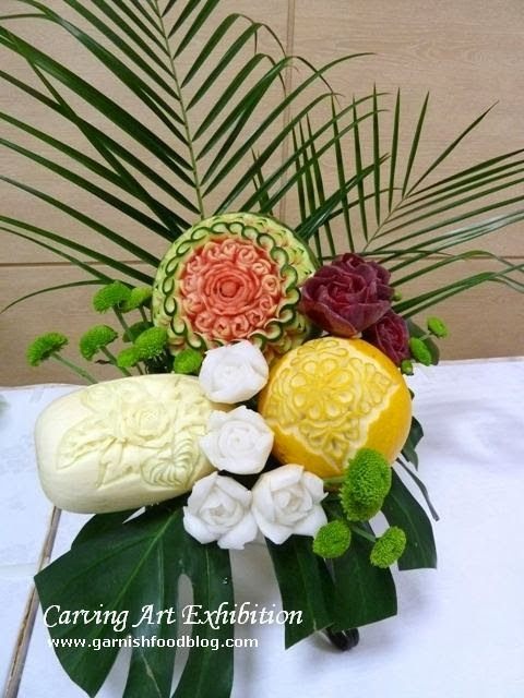 fruit carving bouquet