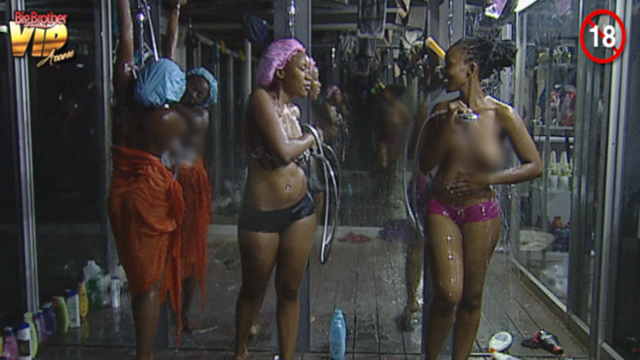 BigBrotherAfrica: Resa, Sipe, Goitse, M'am Bea Shower Photo and Video