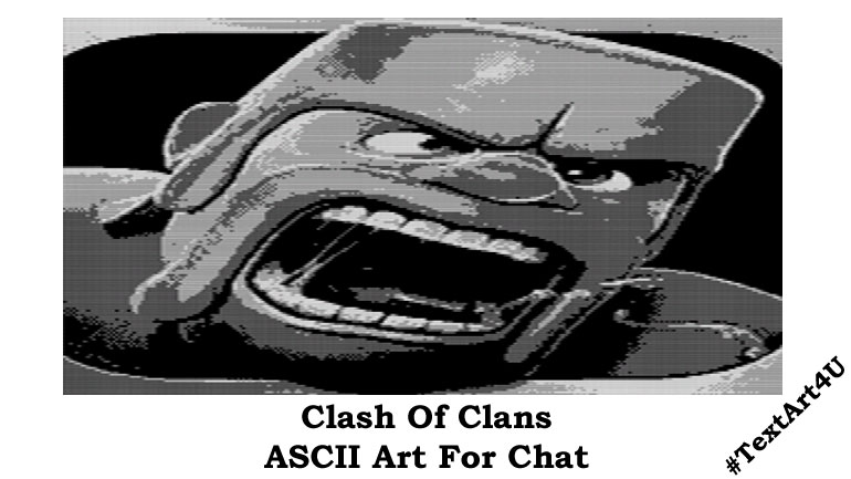 Chat Art For Clash Of Clans Game Copy Fun Cool Ascii Text Art 4 U
