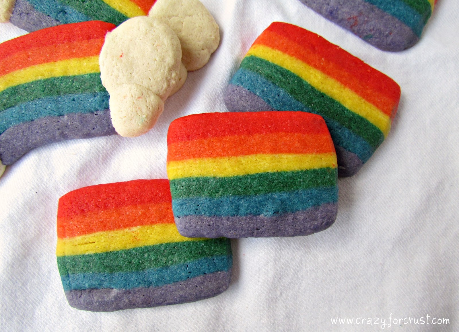 Rainbow Cookies {Slice and Bake} - Crazy for Crust