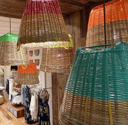 Diy Idea Dip Dyed Style Basket Pendant Lights Poppytalk