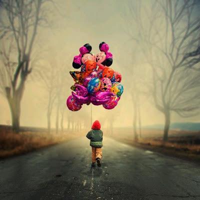niño con globos