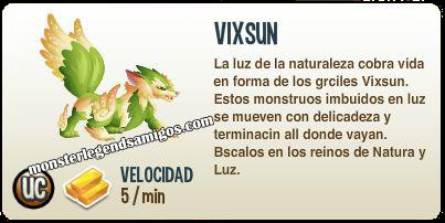 imagen de la descripcion del monstruo vixsun