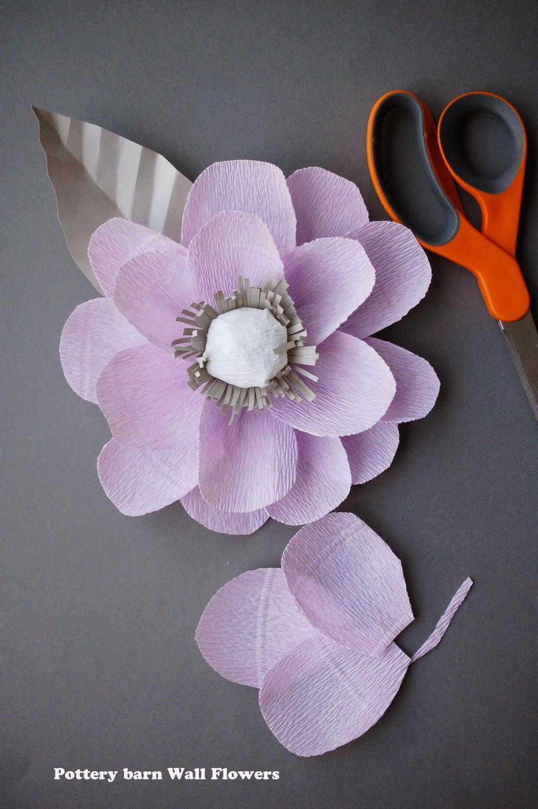 lavender crepe paper flowers pottery barn georgia quilt