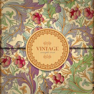 古典的な草木柄の表紙見本 classic pattern background vector イラスト素材