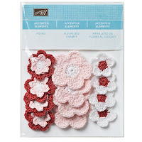 Stampin' Up! Crochet Flowers for Handmade Craft Projects