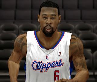 NBA 2K14 DeAndre Jordan Cyberface Mod