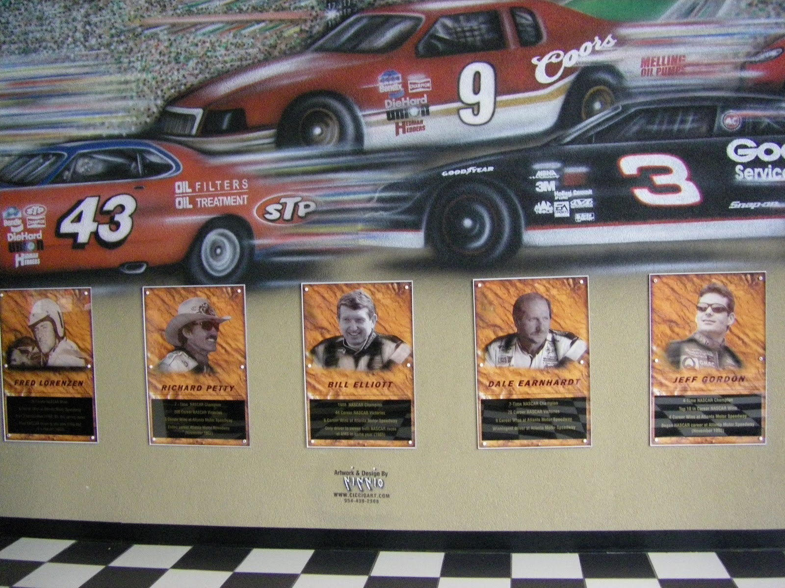 Dancing on the journey life in the fast lane a visit to for Atlanta motor speedway light show
