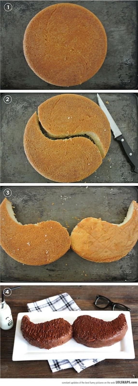 Baños Decorados Estilo Mexicano:Yumtastics: Mustache Cake