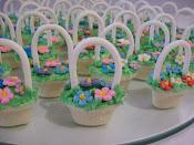 Bombons cestinha de flores