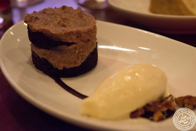 image of praline chocolate cake at Tom Colicchio Craftbar in NYC, New York