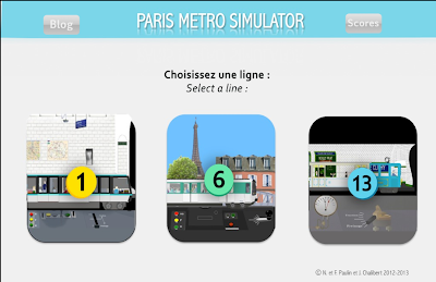Simulateur du métro parisien