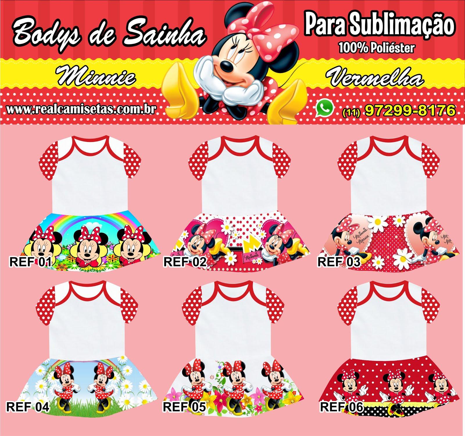 Bodys de bebês com sainhas para sublimação - Real Camisetas - Josynha Artes