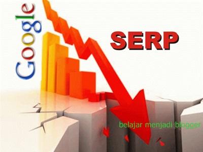 penyebab penurunan posisi ranking blog di serp