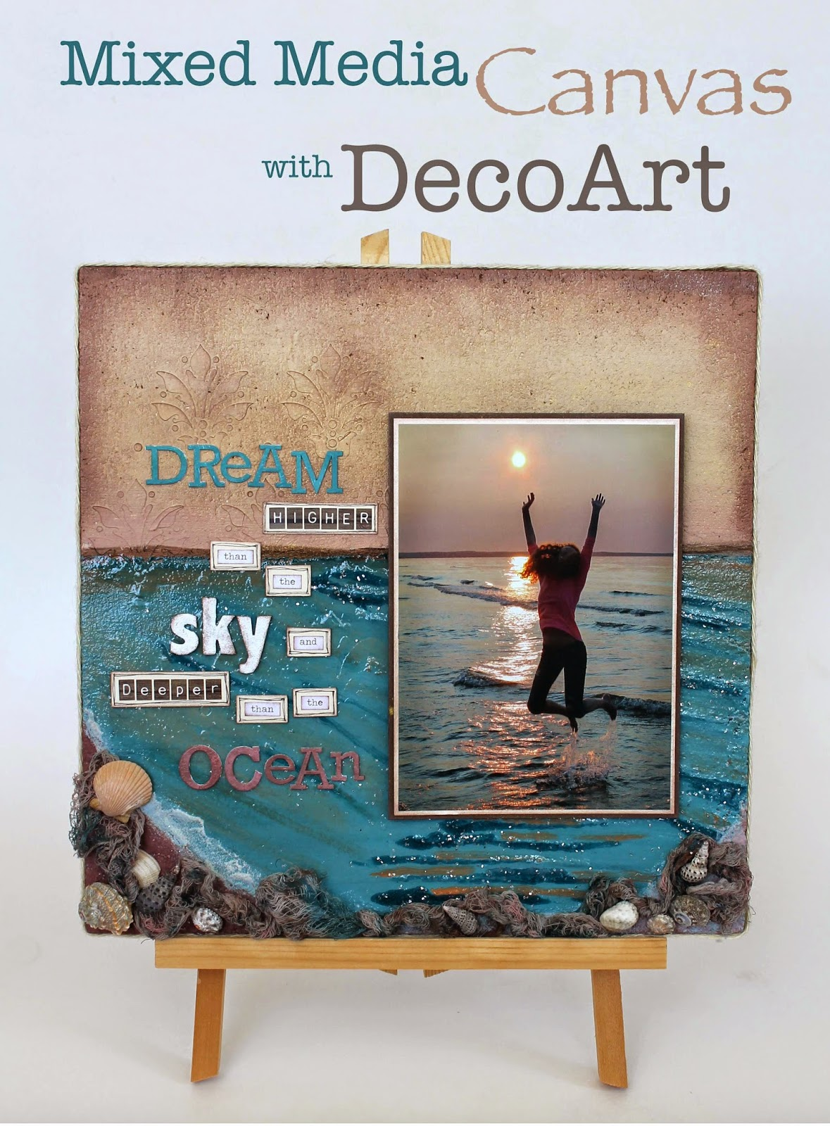 Scrappy Chick Designs: Higher Than The Sky: Mixed Media ...