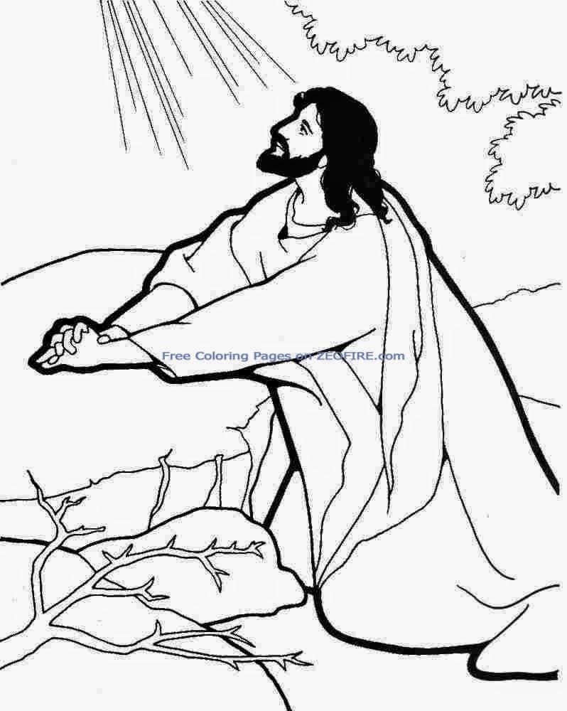 Único Dibujos Para Colorear De Jesús Rezando En El Jardín Galería ...