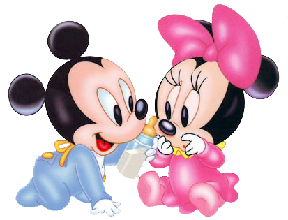 Minnie y Mickey bebé - Imagui