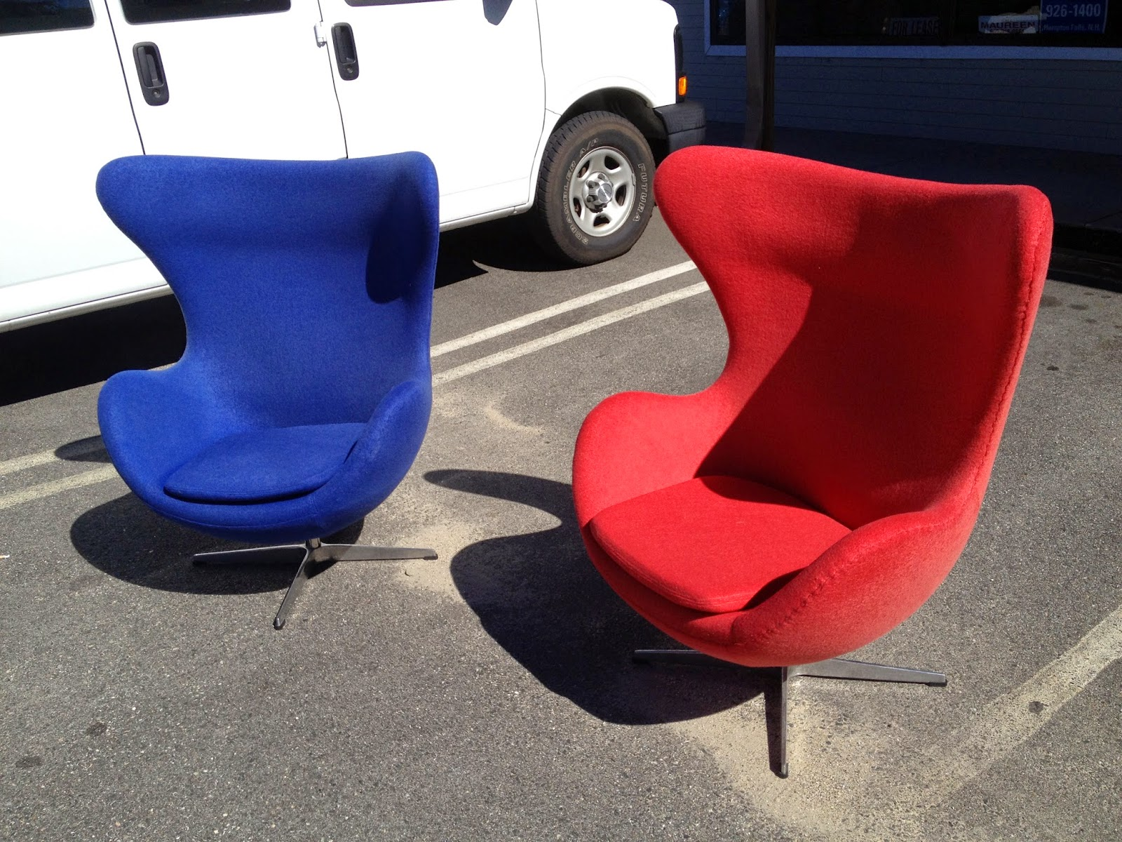 Eames Chair $150 Egg Chairs $400 Ea 70s Milo Style Chairs $100 Ea / Set Of 6