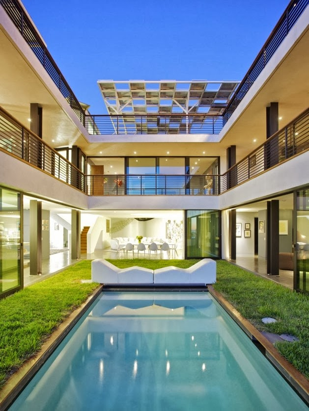 Desain Denah Dan Gambar Rumah Modern Dengan Interior & Denah Rumah Minimalis Futuristik - Rumah Minimalis 2020
