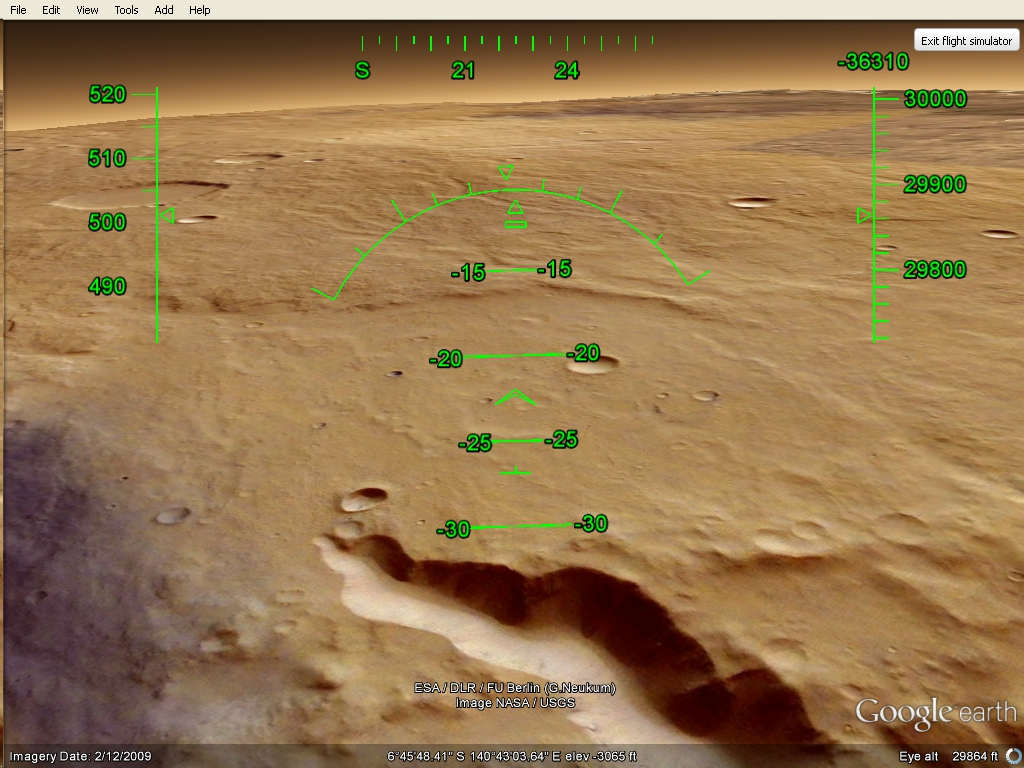 Google Earth Driving Simulator >> The whole damn world: Mars