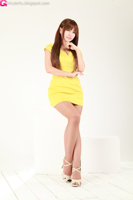 3 Ryu Ji Hye in Yellow-very cute asian girl-girlcute4u.blogspot.com