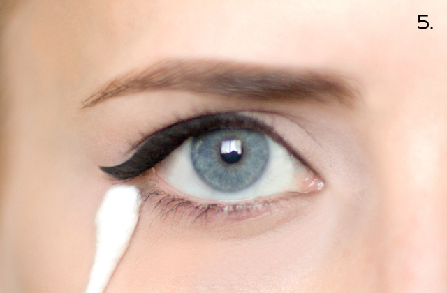 Hair and make up by steph how to cat eyeliner use a q tip and makeup remover to clean up the bottom edge of the liner making it nice and crisp ccuart Image collections