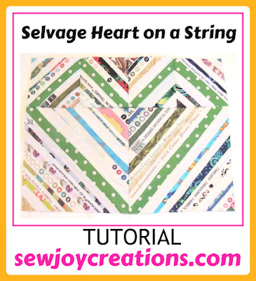 button for Selvage Heart on String Tutorial