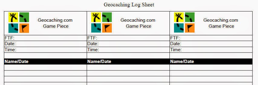 picture about Printable Geocaching Logs known as The Caching Bag: Cost-free Log Sheets