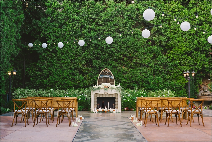Southern california wedding ideas and inspiration romantic and elegant blue franciscan gardens Garden wedding venues los angeles