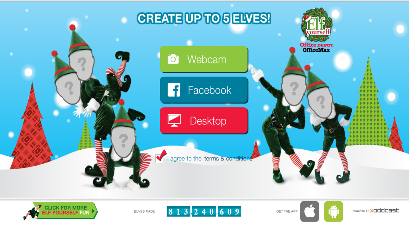 ElfYourself 2014 desktop upload