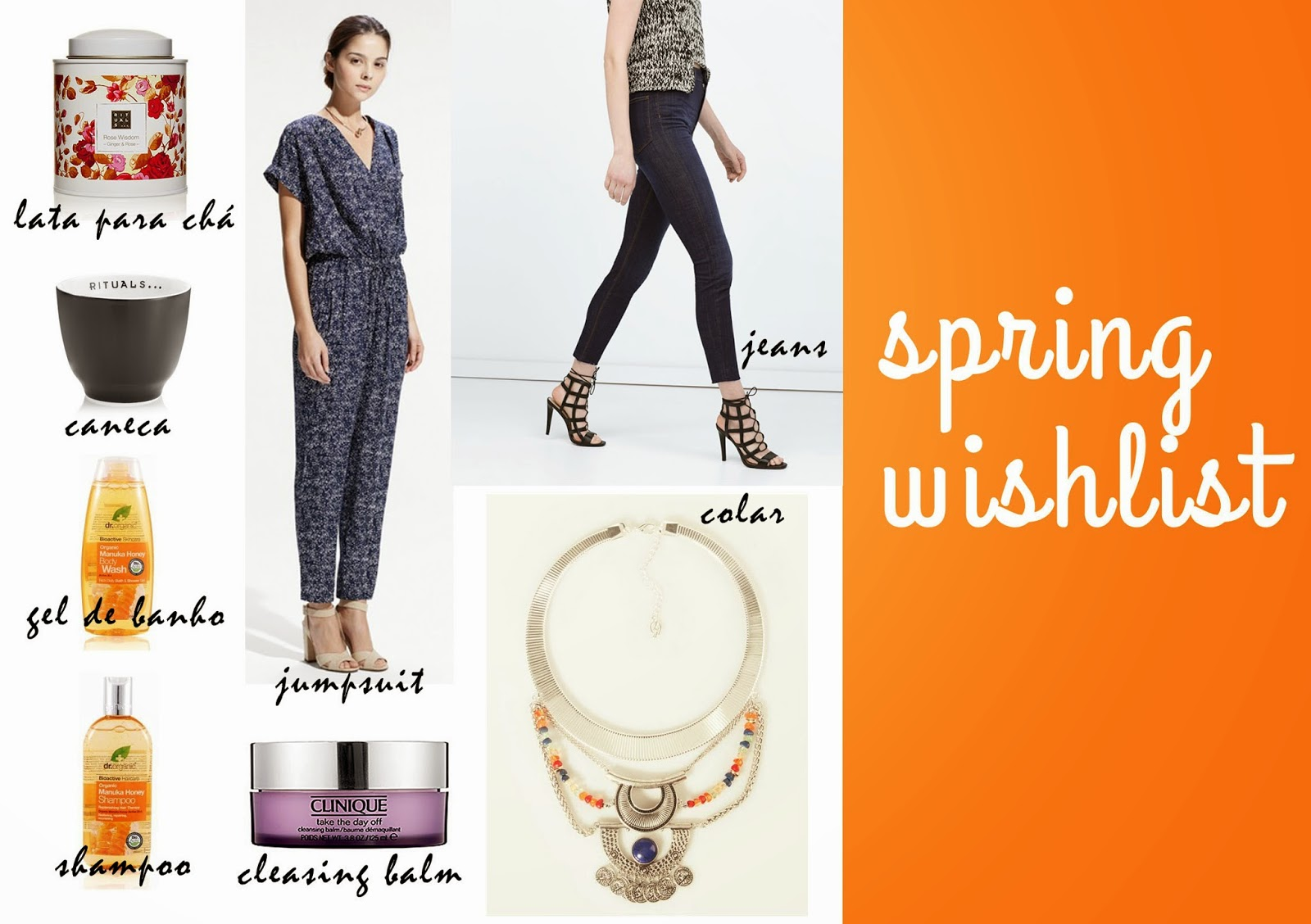 Spring wishlist: Rituals, Zara, Mango, Clinique, Dr. Organic, Stradivarius | Bohemian Escape blog