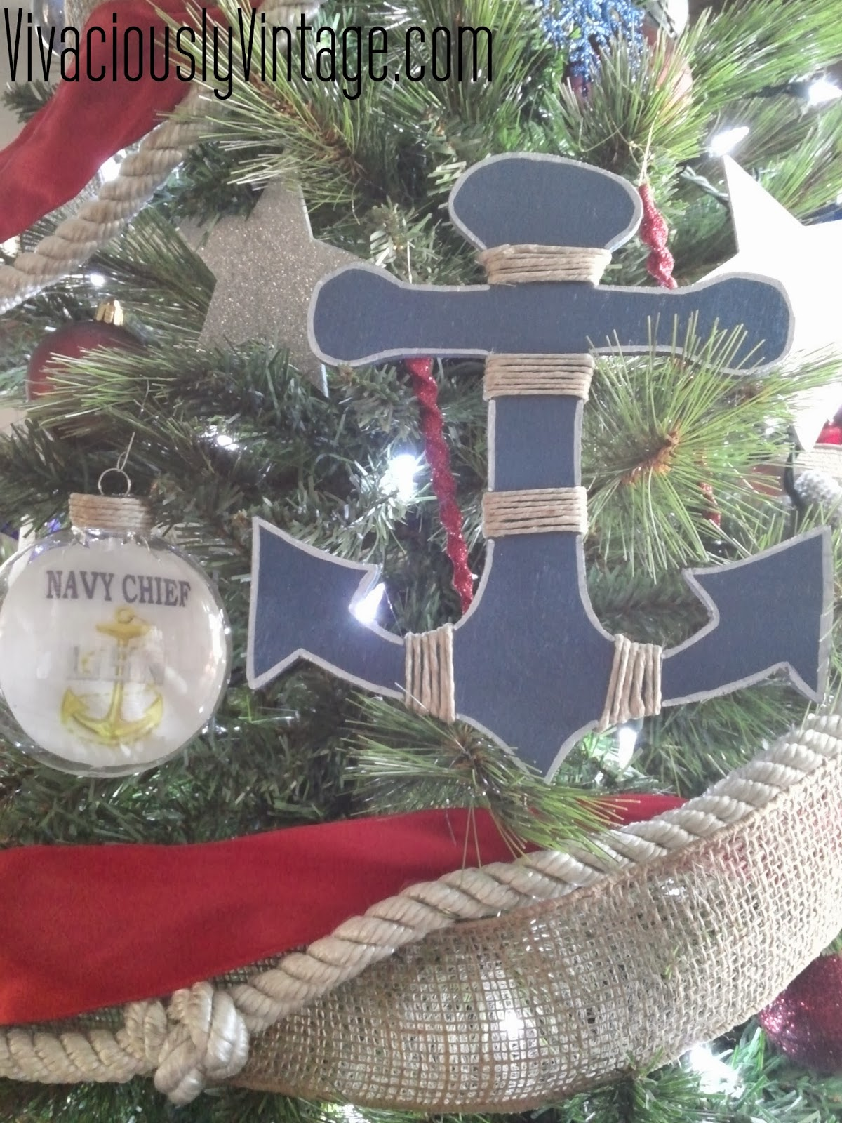 Nautical tree ornaments - Overall His Christmas Tree Has A Nautical Theme I Do Confess To Wanting One Of These For Myself I Was Also Sure To Add Other Touches That Have To Do With