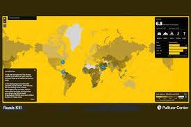 mapa fallecidos en las carreteras en el mundo