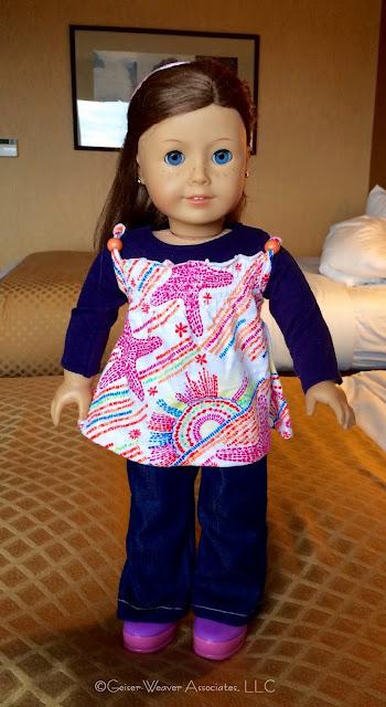 Bay City visit- peasant blouse outfit by Geiser-Weaver Associates, LLC