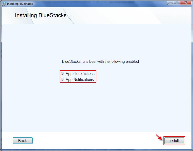 proses instalasi bluestack android untuk PC tahap 3