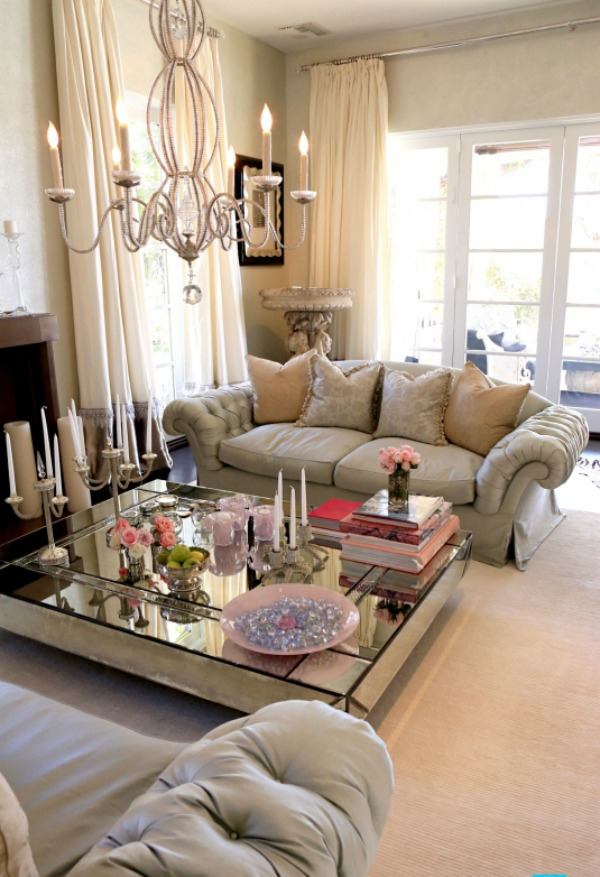 Mirrored Living Room Furniture - Rooms