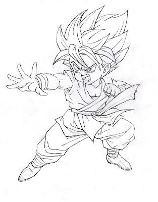 Desenho Dragon Ball Z para colorir