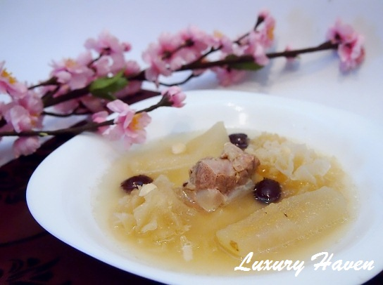 chinese new year pear soup snow fungus recipes