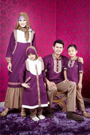 10 Baju Muslim Couple Ayah, Ibu dan Anak Terbaru - Baju Muslim Couple ...
