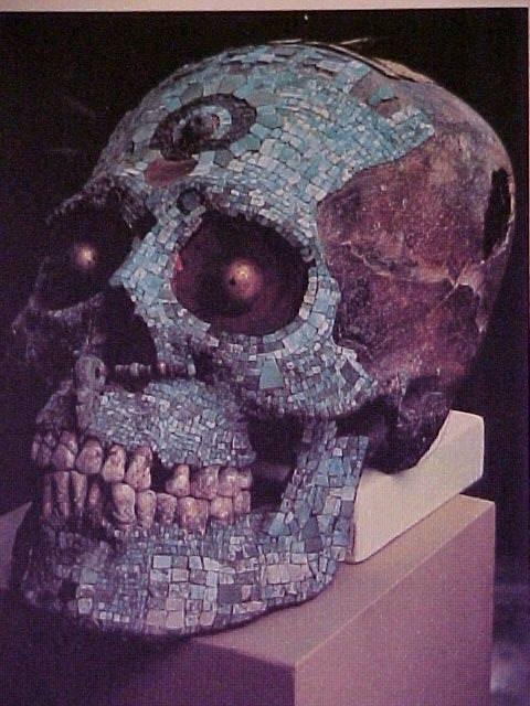 cráneo decorado.