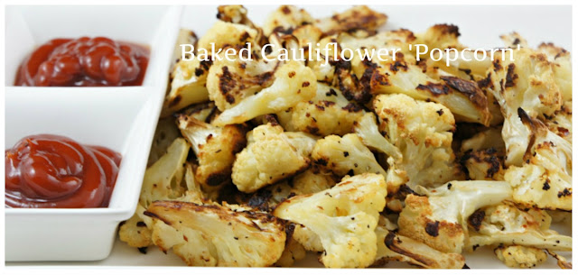 Baked Cauliflower Popcorn #snack #cauliflower