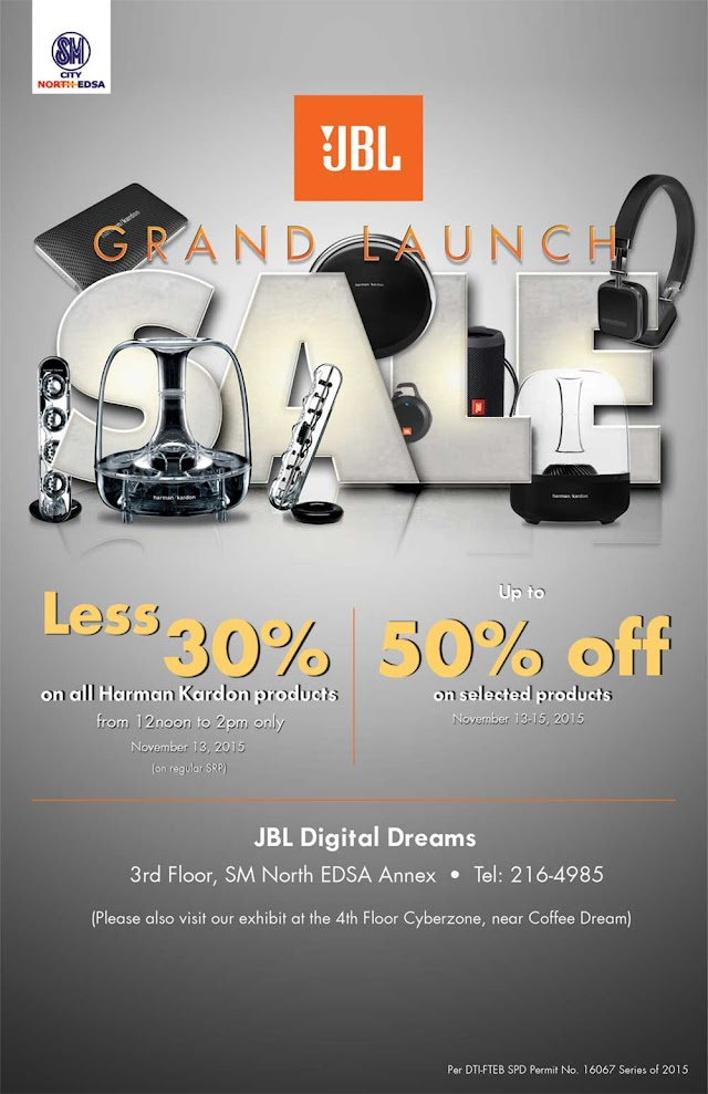 Discounts of 50% and 30% on the JBL Digital Dreams Grand Launch