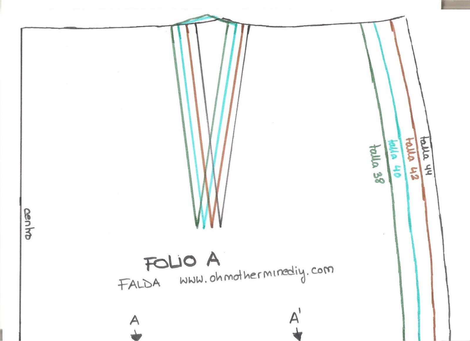 Aprender a coser faldas parte 7: Cómo hacer el bajo de la falda ...