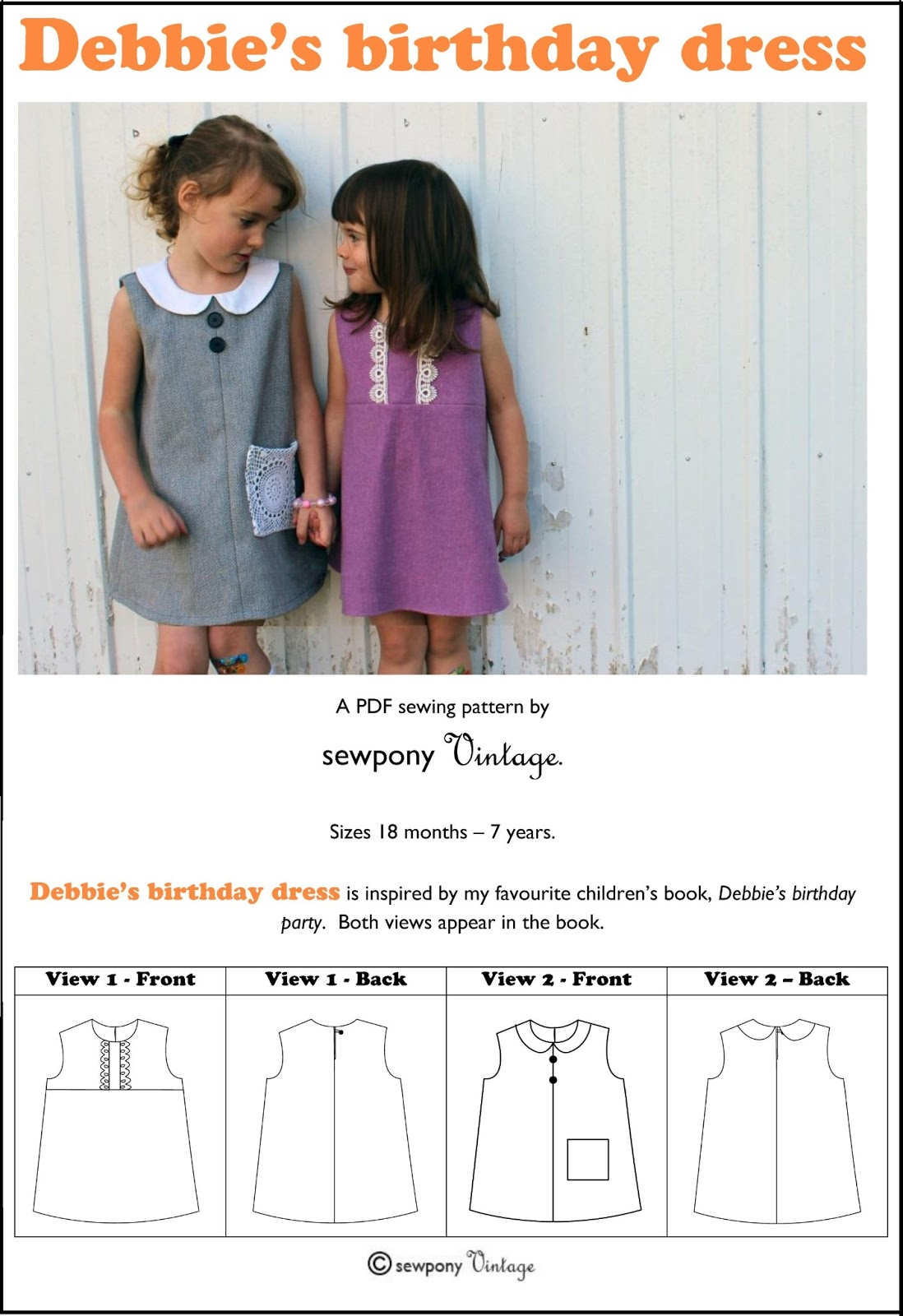 PATTERN RELEASE: Debbie\'s birthday dress !! (and a discount!) - sewpony