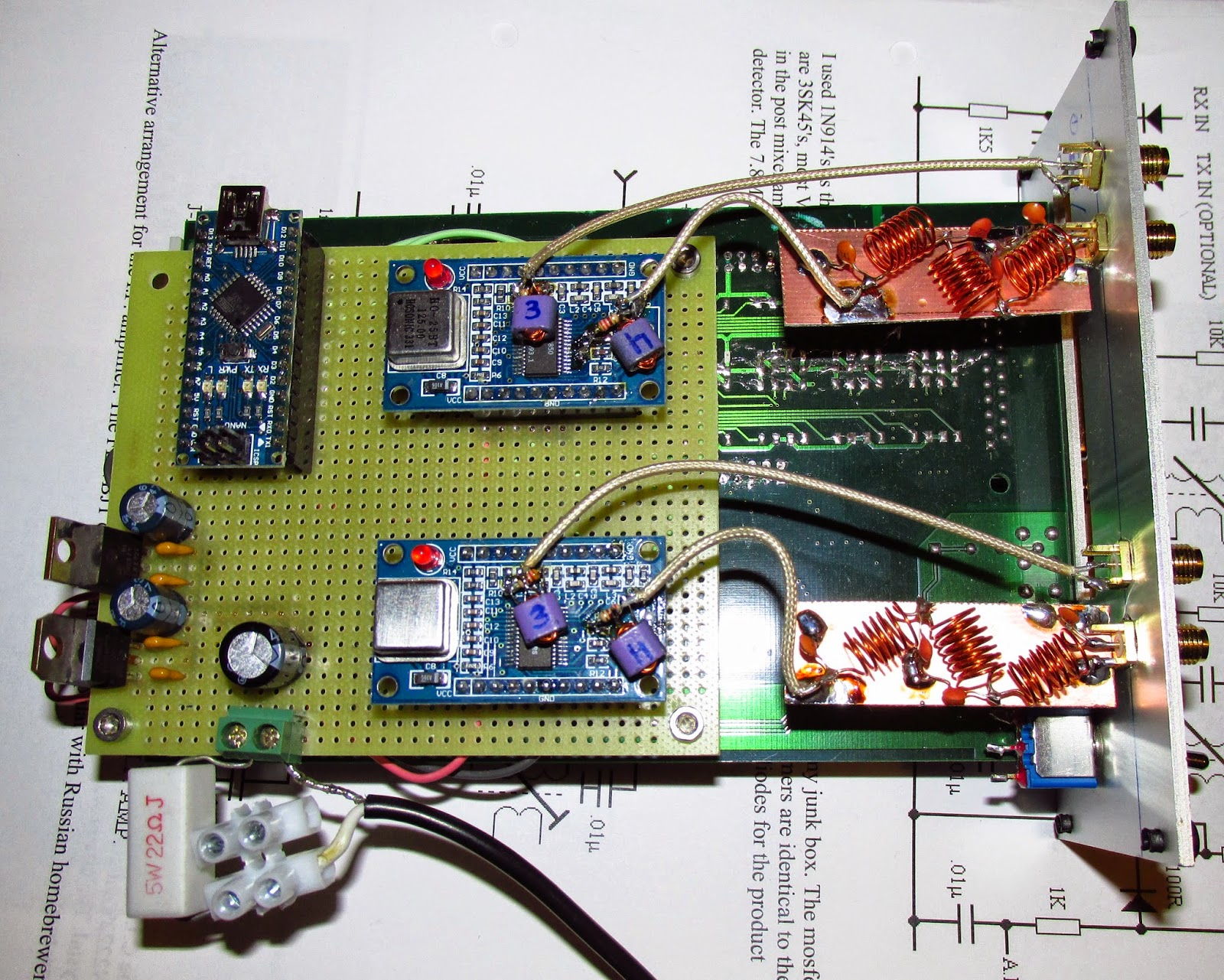 My Home Rf Lab 5w Chinese Pll Fm Transmitter With Lcd Printed Circuit Board Pcb