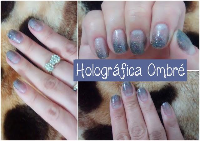 Nail Art Holográfica Ombré